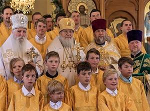 На Рождественской службе в Петропавловском соборе в Сиднее, 2018 г.